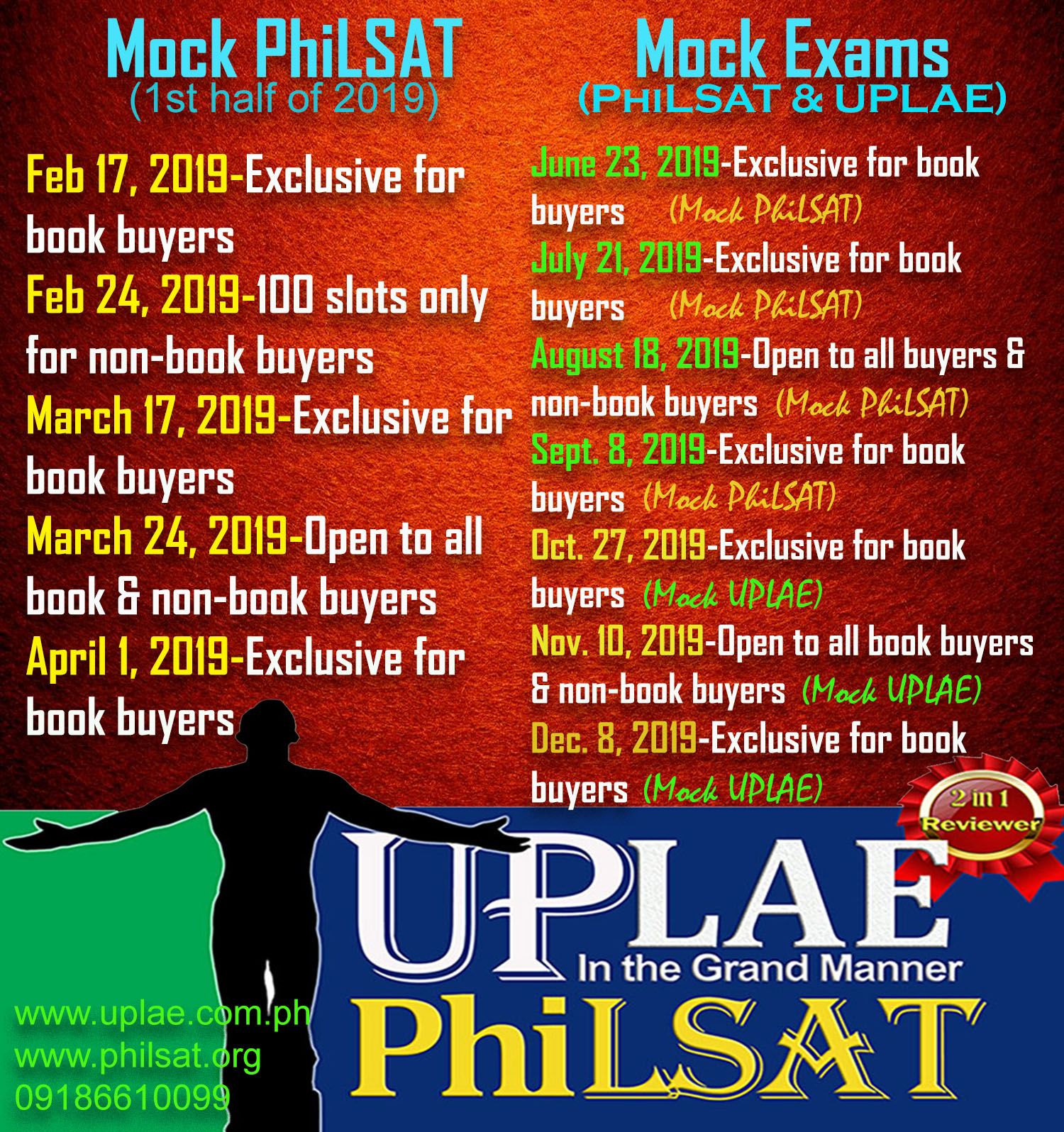 UPLAE & PhiLSAT Reviewer 2-in-1
